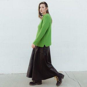 Bright Green Oversized Knit